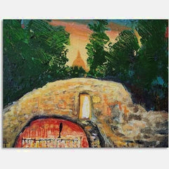 Grotto | Oil on Canvas | Size: 16x20 | No Frame