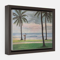 Horizontal Framed Premium Gallery Wrap Canvas - 10″ × 8″ / Walnut / Wraps (1.25″)