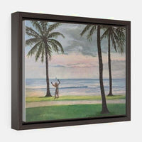 Horizontal Framed Premium Gallery Wrap Canvas - 14″ × 11″ / Walnut / Wraps (1.25″)