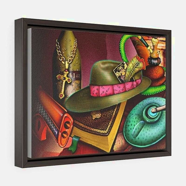Horizontal Framed Premium Gallery Wrap Canvas - 16″ × 12″ / Walnut / Wraps (1.25″)