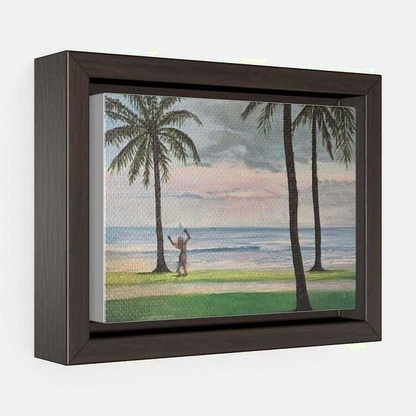 Horizontal Framed Premium Gallery Wrap Canvas - 7″ × 5″ / Walnut / Wraps (1.25″)
