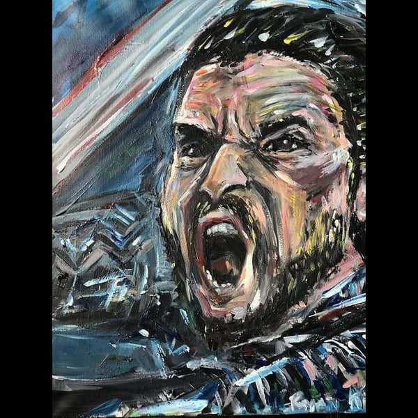 Jon Snow Game of Thrones by Ryan Karey Acrylic on Canvas Size: 24x20 Unframed