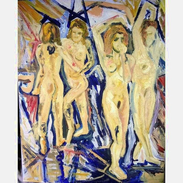Mirrored Nudes | Acrylic on Canvas | Size: 20X16 | No frame