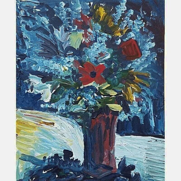 Night Floral | Acrylic on Canvas | Size: 20X16 | No Frame