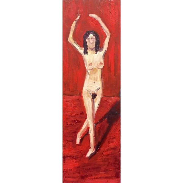 Nude Ballet | Oil on Canvas | Size: 36x12 | No Frame