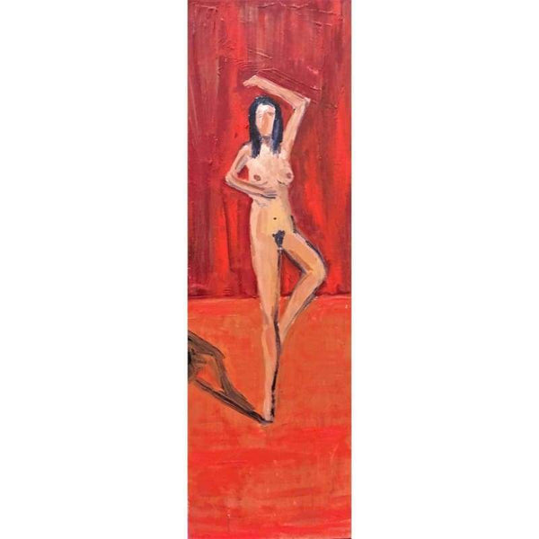 Nude Ballet 3 | Oil on Canvas | Size: 36X12 | No Frame