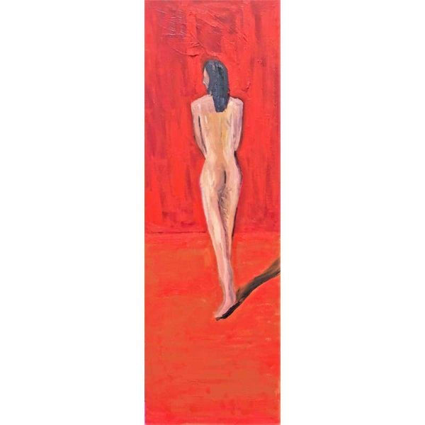 Nude Ballet 2 | Oil on Canvas | Size : 36x12 | No Frame