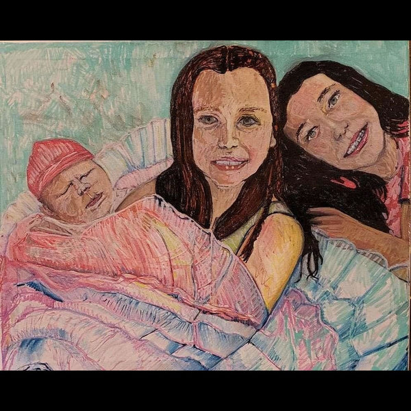 Portraits of Loved Ones 12X15 Signed No Frame - Acrylic Paintings