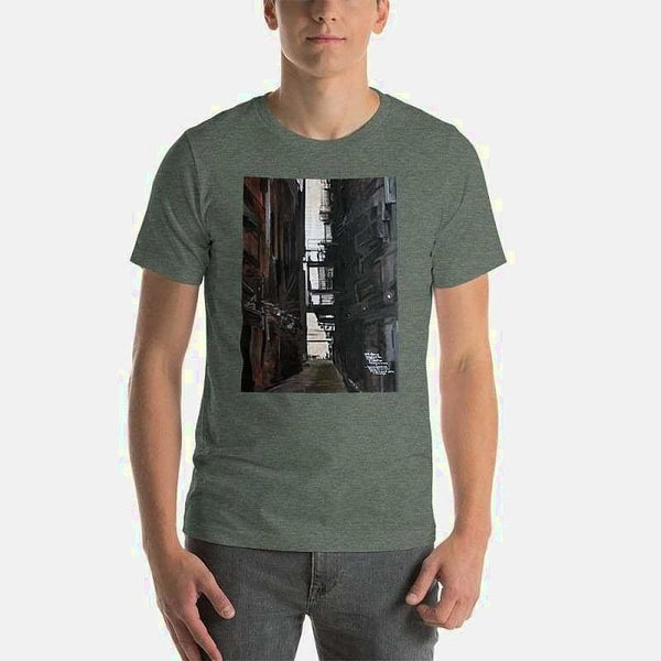 Short-Sleeve Unisex T-Shirt (Artist James Schneider) - Heather Forest / S