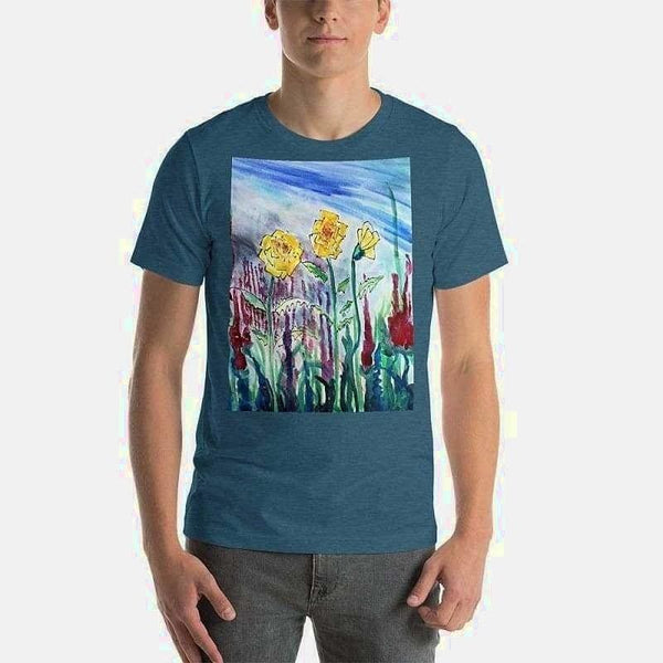 Short-Sleeve Unisex T-Shirt (Artist Samuel Gillis) - Heather Deep Teal / S