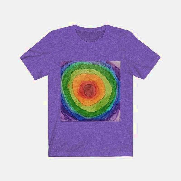 Unisex Jersey Short Sleeve Tee (Artist Glendy X. Mattalia) - Heather Team Purple / L - T-Shirt