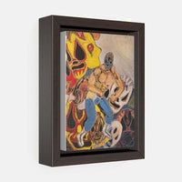 Vertical Framed Premium Gallery Wrap Canvas - 5″ × 7″ / Wraps (1.25″) / Walnut