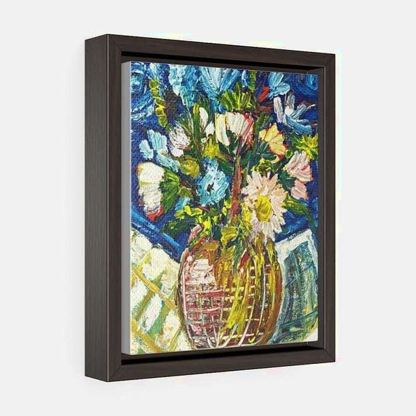 Vertical Framed Premium Gallery Wrap Canvas - 8″ × 10″ / Wraps (1.25″) / Walnut