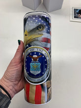 Load image into Gallery viewer, United States Air Force custom sublimation tumbler