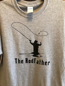 4d50481f31 The Rodfather fishing t shirt, funny fishing shirt, rod father, fly fishing
