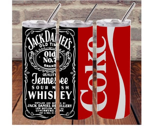 Jack and coke drink sublimation tumbler