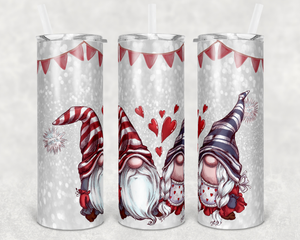 Gnome Valentine stainless steel tumbler