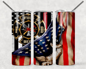 Firefighter sublimation tumbler