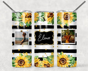 Beautiful sunflower custom picture sublimation tumbler