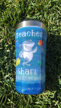Load image into Gallery viewer, Teacher shark tumbler