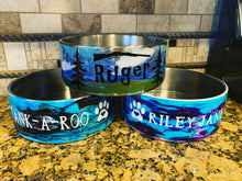 Load image into Gallery viewer, Custom dog bowls, special gift for your fur baby,