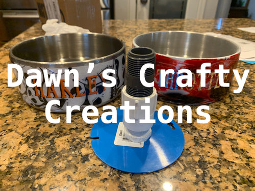 dog bowl adapter, stainless steel doggie bowl adapter made just for you, create a great looking custom dog bowl for your fur baby