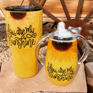 Mommy and me you are my sunshine tumbler set