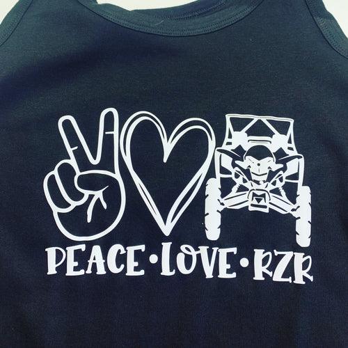 Peace love RZR tank top