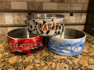 Custom dog bowls, special gift for your fur baby,