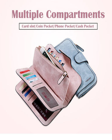 many choices of new product new season Retro Glamorous Multiple Slots Women Wallets (Second 35% off)