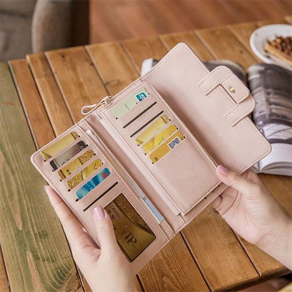 Large Capacity Multi-slots Solid Wallet