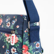 Waterproof Flowers Printing Shoulder Handbags