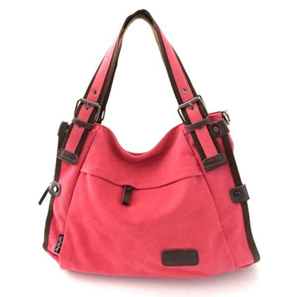 Women Canvas Casual Large Capacity Shoulder Bag