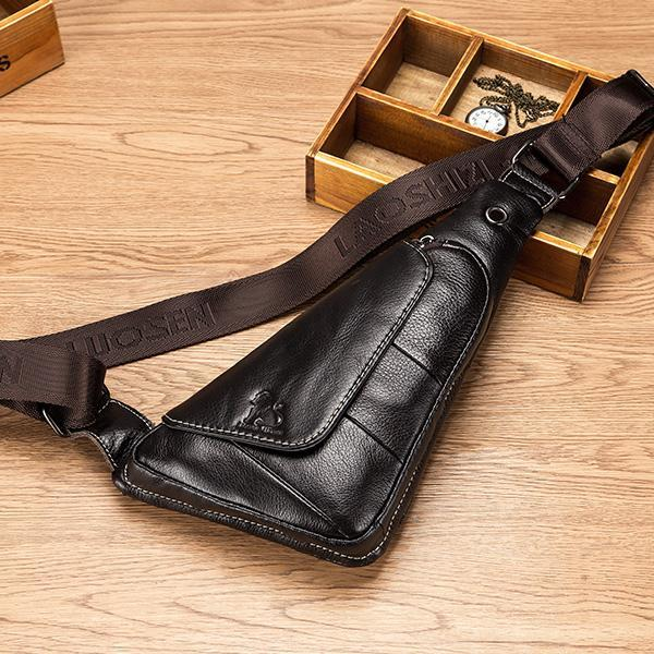 Pierrebuy _ Genuine Leather Men Travel Sling Bag_designer bags