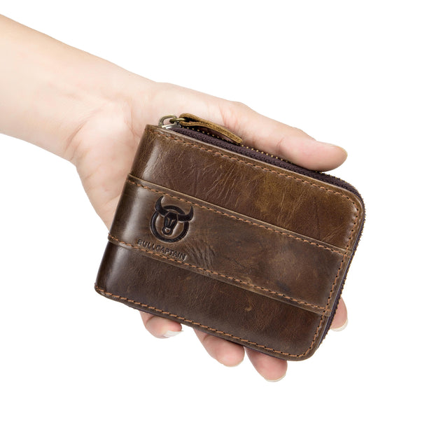 Zipper Leather Wallet - Pierrebuy