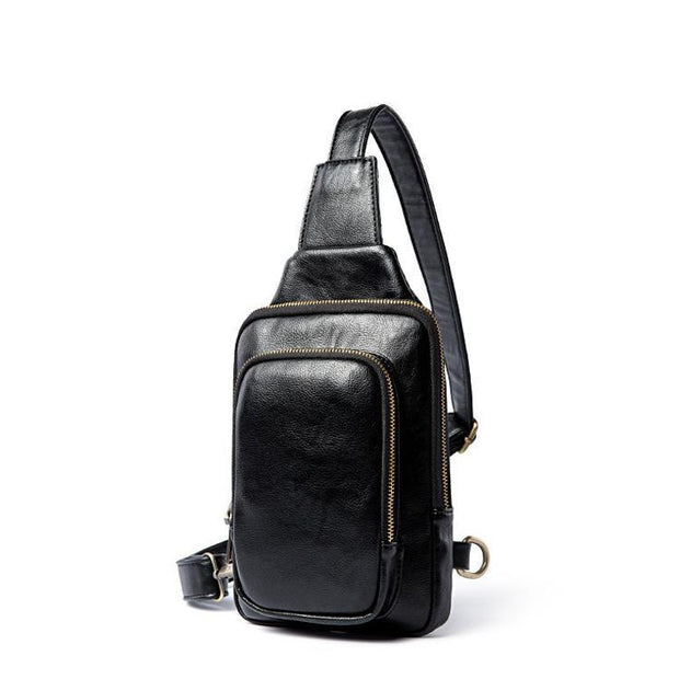Pierrebuy _ EDC  Vintage Leather Chest Bag For Men_designer bags