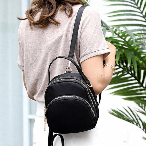 Solid Backpack Crossbody Bags