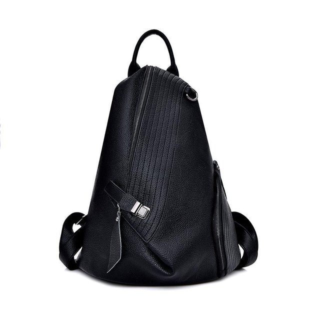 Pierrebuy _ Fashion PU Leather Women Bag Solid Female Backpack 113245_designer bags