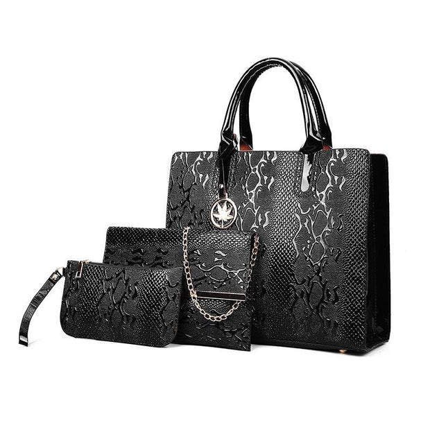 Pierrebuy _ 3Pcs Luxury Snake Bag Sets_designer bags