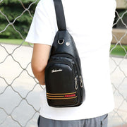 Men Zipper Chest Pack Shoulder Bag