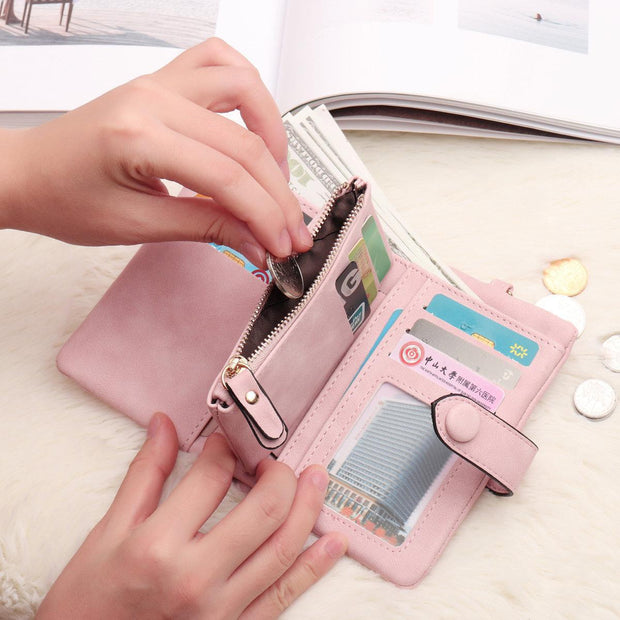 Tri-fold Multi-card Lady Wallet