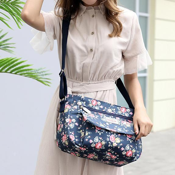 Pierrebuy _ Flowers Printing Shoulder Handbags_designer bags