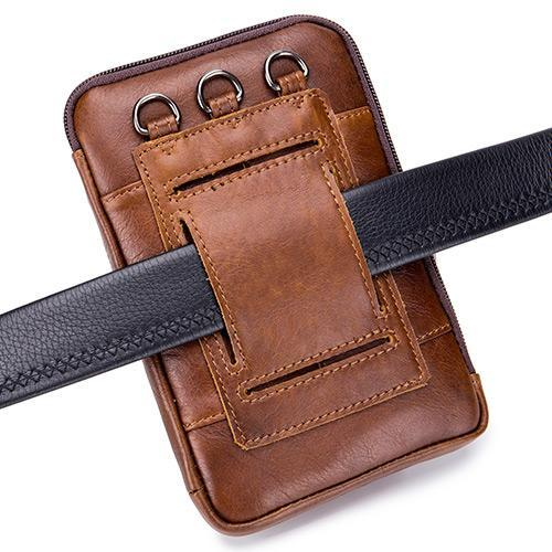 Pierrebuy _ Leather Multi-function Mobile Phone Waist Bag_designer bags