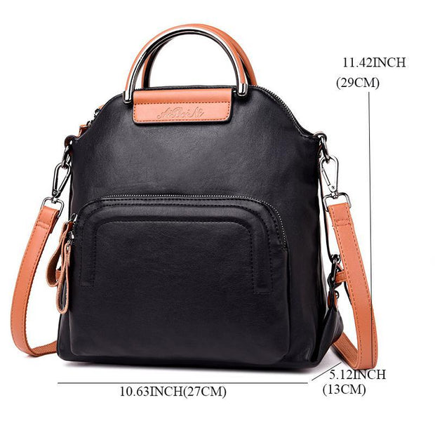 Multifuntional Solid Female Backpack