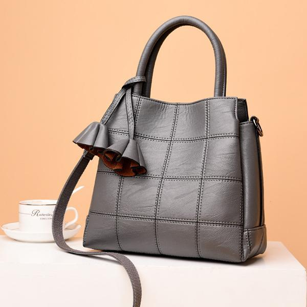 Plaid Leather Women Handbags