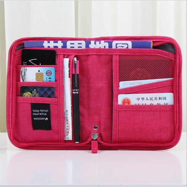 Passport Bag ID Card Holder Travel Ticket Storage Consolidation  Business Card Document Package 114356