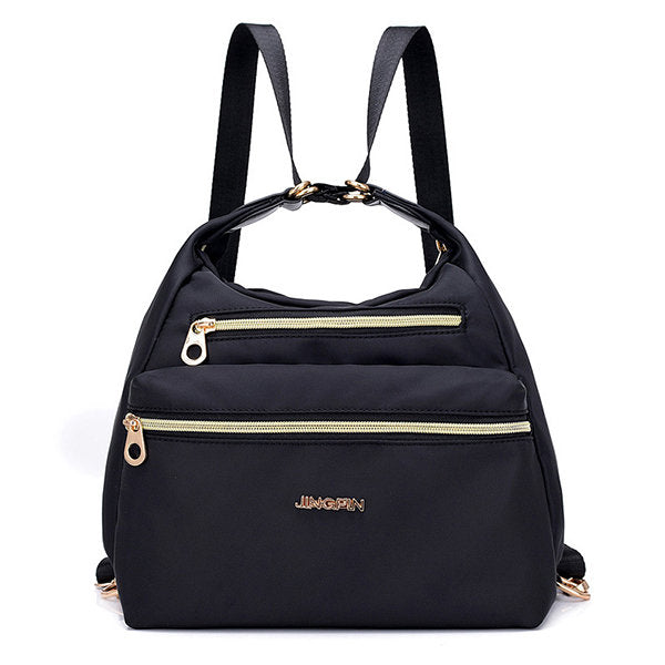 Women Nylon Waterproof Double-sided Multifunctional Shoulder Bag Backpack