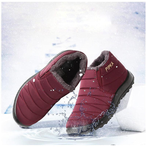 Women's Water-resistant Soft Sole Slip On Warm Casual Snow Ankle Boots