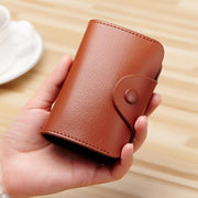 Pierrebuy _ High Quality Genuine Leather Women Card Bags Fashion Solid Short Wallet For Ladies Card/ID Holders 115183_designer bags