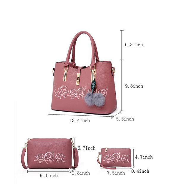 Pierrebuy _ 3pcs Women Bag Set Casual Tote_designer bags